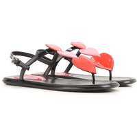 Prada Sandals for Women On Sale in Outlet, Red, Patent Leather, 2019, 3.5 7.5