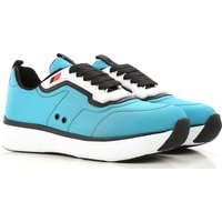 Prada Sneakers for Women On Sale in Outlet, Turquoise, Nylon, 2019, 2.5 4.5 5