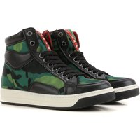 Prada Sneakers for Women On Sale in Outlet, Green, Fabric, 2019, 4 7.5