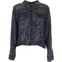 P.A.R.O.S.H. Jacket for Women On Sale, Midnight Blue, Viscose, 2019, 10