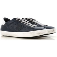 Philippe Model Sneakers for Men, Navy Blue, Leather, 2019, 10.5 6.5 7 8 9 9.5