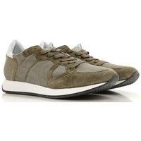 Philippe Model Sneakers for Men On Sale in Outlet, Military Green, Suede leather, 2019, 10.5 6.5 7