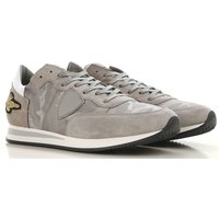 Philippe Model Sneakers for Men On Sale, Light Grey, Suede leather, 2019, 7 8