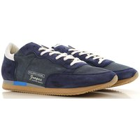 Philippe Model Sneakers for Men On Sale, Blue Navy, Suede leather, 2019, 7 9.5
