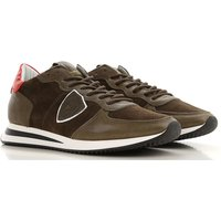 Philippe Model Sneakers for Men On Sale in Outlet, Military Green, Leather, 2019, 10.5 9