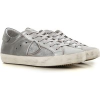 Philippe Model Sneakers for Women, Silver, Leather, 2019, 3.5 4.5 5.5 6.5 7.5 8.5