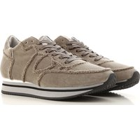 Philippe Model Sneakers for Women On Sale in Outlet, Mud, Velvet, 2019, 3.5 7.5
