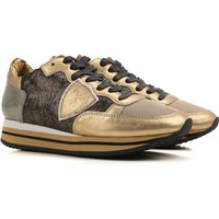 Philippe Model Sneakers for Women On Sale, Gold, Metallic Leather, 2017, 2.5 3.5 5.5