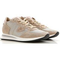 Philippe Model Sneakers for Women On Sale, Beige, Suede leather, 2019, 3.5 7.5