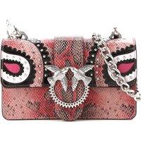 Pinko Shoulder Bag for Women, Pink, Leather, 2019