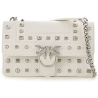 Pinko Shoulder Bag for Women, White, Leather, 2019