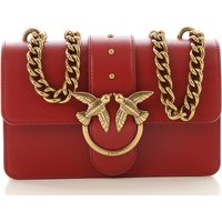 Pinko Shoulder Bag for Women On Sale, Ruby Red, Leather, 2019