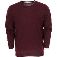 Paolo Pecora Sweater for Men Jumper On Sale, Bordeaux Wine, Wool, 2019, L M XL