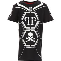 Philipp Plein Kids T-Shirt for Boys, Black, Cotton, 2017, 10Y 16Y 8Y
