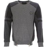 Philipp Plein Sweatshirt for Men, Grey, Cotton, 2017, L XL