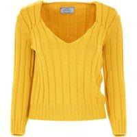 Prada Sweater for Women Jumper On Sale in Outlet, Saffron, Virgin wool, 2019, 10 12
