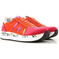 Premiata Sneakers for Women, coral red, Textile, 2019, 2.5 3.5 4.5 6.5