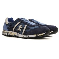 Premiata Sneakers for Men, Camouflage Blue, Suede leather, 2017, 5.5 7 9