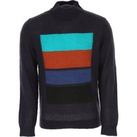 Paul Smith Sweater for Men Jumper, Navy Blue, Acrylic, 2019, L M S XL