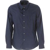 Paul Smith Shirt for Men On Sale in Outlet, Dark Blue, Cotton, 2017, S * IT 46 M * IT 48 L * IT 50 X