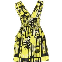 Fausto Puglisi Dress for Women, Evening Cocktail Party On Sale, Yellow, Cotton, 2019, 10 8