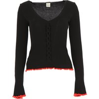 Pinko Sweater for Women Jumper, Black, Viscose, 2019, 10 12 8