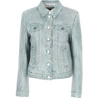 Pinko Leather Jacket for Women On Sale, Green Water, Leather, 2019, 12 8