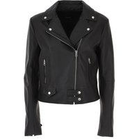 Pinko Leather Jacket for Women On Sale, Black, Leather, 2019, 10 6