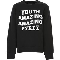 Pyrex Kids Sweatpants for Boys On Sale, Black, Cotton, 2021, L S XL