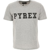 Pyrex Camiseta de Hombre Baratos en Rebajas Outlet, Gris, Algodon, 2019, S XS