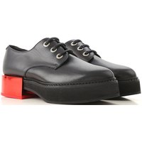 Alexander McQueen Brogues Oxford Shoes On Sale in Outlet, Black, Leather, 2019, 4 4.5 6