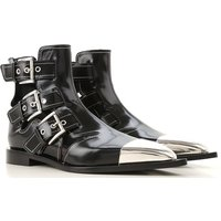 Alexander McQueen Boots for Women, Booties On Sale in Outlet, Black, Leather, 2019, 3.5 4.5 5.5 6.5