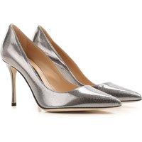 Sergio Rossi Pumps & High Heels for Women On Sale, Gun Metal, Leather, 2019, 5.5