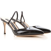Sergio Rossi Pumps & High Heels for Women On Sale in Outlet, Black, Patent Leather, 2019, 4.5 6.5