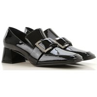 Sergio Rossi Loafers for Women, Black, Patent Leather, 2019, 2.5 5.5 7.5