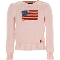 Ralph Lauren Kids Sweaters for Girls On Sale in Outlet, Pink, Cotton, 2021, 2Y 3Y 6Y