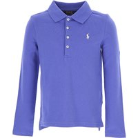 Ralph Lauren Kids Polo Shirt for Girls On Sale in Outlet, Blue Melange, Cotton, 2021, 2Y 3Y 5Y
