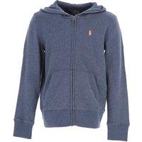 Ralph Lauren Kids Sweatshirts & Hoodies for Girls On Sale in Outlet, Indigo Heather Blue, Cotton, 20