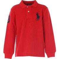 Ralph Lauren Kids Polo Shirt for Boys On Sale, Red, Cotton, 2017, 2Y 3Y 4Y 5Y 6Y