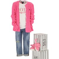 Ralph Lauren Kids Sweaters for Girls On Sale in Outlet, Pink, Cotton, 2019, 4Y 6Y XL