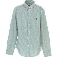 Ralph Lauren Kids Shirts for Boys On Sale, Green, Cotton, 2021, L XL
