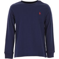 Ralph Lauren Kids T-Shirt for Boys On Sale in Outlet, navy, Cotton, 2019, 5Y 6Y 7Y