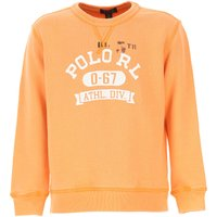 Ralph Lauren Kids Sweatshirts & Hoodies for Boys, Peach, Cotton, 2019, 5Y 7Y