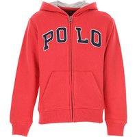 Ralph Lauren Kids Sweatshirts & Hoodies for Boys On Sale, Red, Cotton, 2019, L M S