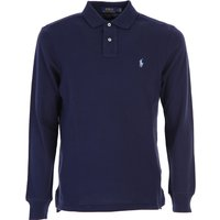 Ralph Lauren Polo Shirt for Men On Sale, Navy Blue, Cotton, 2019, L XL