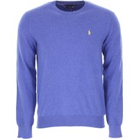 Ralph Lauren Sweater for Men Jumper On Sale, Cornflower, Cotton, 2019, L M S XL XXL