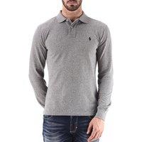 Ralph Lauren Polo Shirt for Men, Canterbury Heather Grey, Cotton, 2017, L M S XL XXL