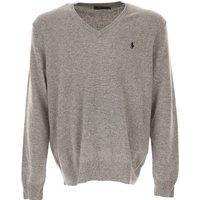 Ralph Lauren Sweater for Men Jumper On Sale in Outlet, Grey Melange, Wool, 2017, XL XXL