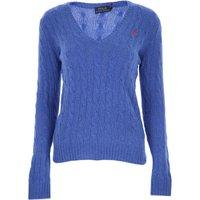 Ralph Lauren Sweater for Women Jumper, Bluette, Wool, 2019, 10 12 8
