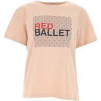 RED Valentino Camiseta de Mujer Baratos en Rebajas, Carne, Algodon, 2019, 38 40 M